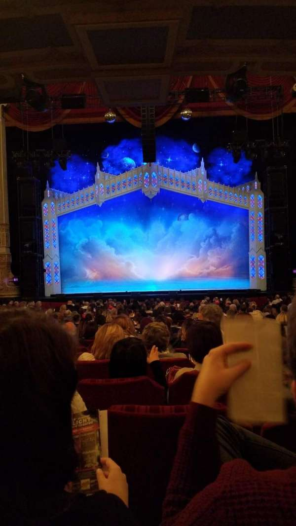 Oriental Theatre, section: Orchestra center, row: Y, seat: 108/109