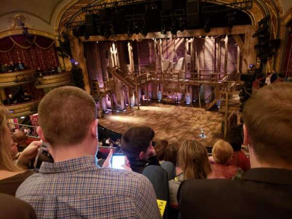 Richard Rodgers Theatre, section: Front Right Mezzanine, row: E, seat: 18
