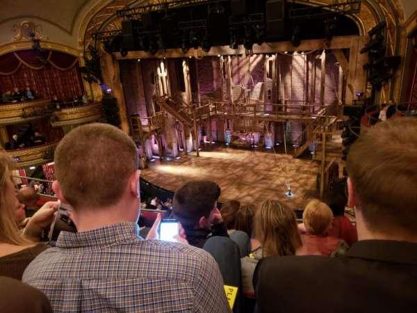 Richard Rodgers Theatre, section: Front Mezzanine R, row: E, seat: 18