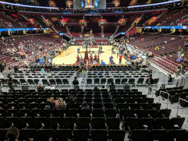 Quicken Loans Arena, section: 117, row: 13, seat: 13