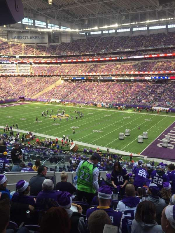U.S. Bank Stadium, section: 124, row: 40W, seat: 51