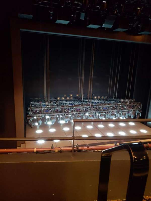 Lunt-Fontanne Theatre, section: Front mezzanine l, row: B, seat: 1