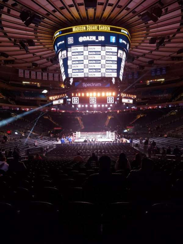 Madison Square Garden, section: 102, row: 6, seat: 8