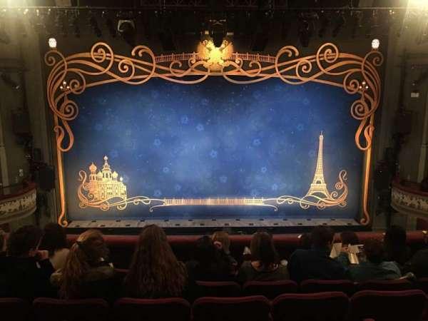 Broadhurst Theatre, section: Mezzanine C, row: F, seat: 107