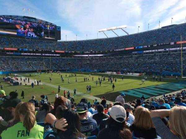 Bank of America Stadium, section: 105, row: 18, seat: 15