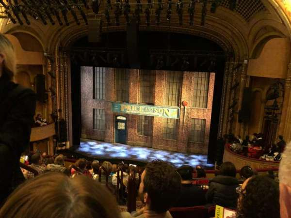 Al Hirschfeld Theatre, section: Mezzanine R, row: L, seat: 4
