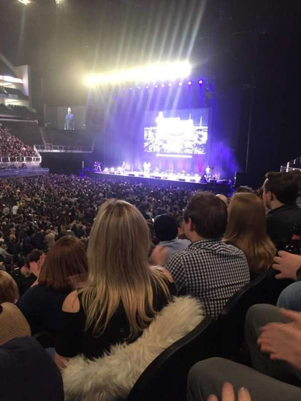 The O2 Arena, section: 111, row: Q, seat: 325
