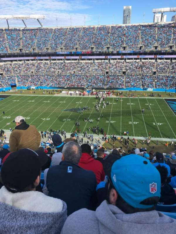 Bank of America Stadium, section: 540, row: 10, seat: 11