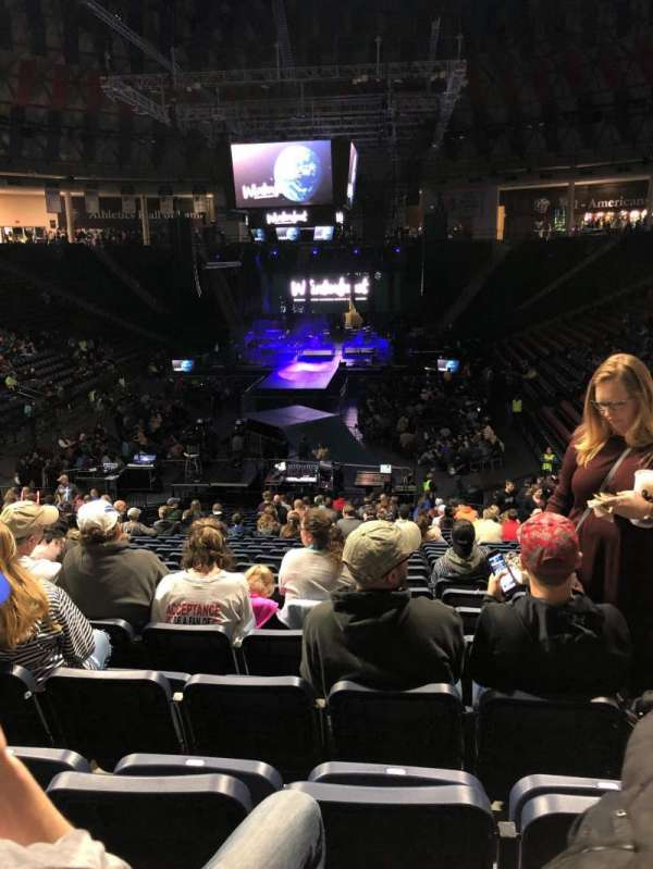 Vines Center, section: 101, row: Y, seat: 15/16