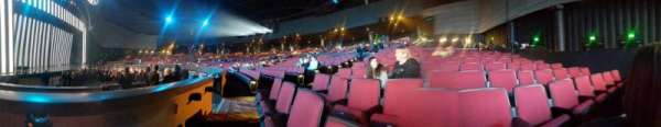 Zappos Theater, section: 105, row: A, seat: 5