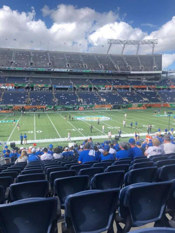 Camping World Stadium, section: 109, row: 20, seat: 22