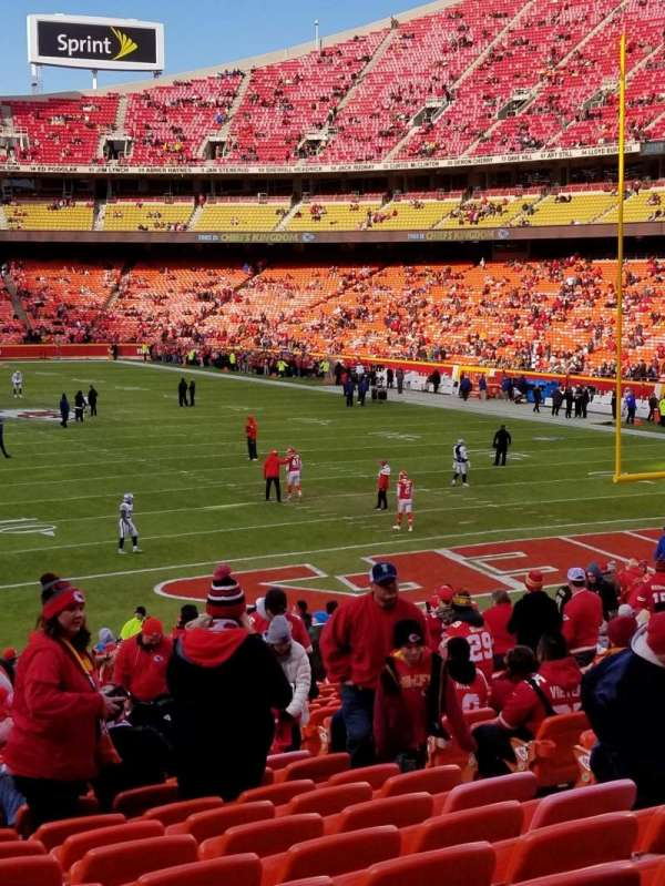 Arrowhead Stadium, section: 112, row: 29, seat: 6