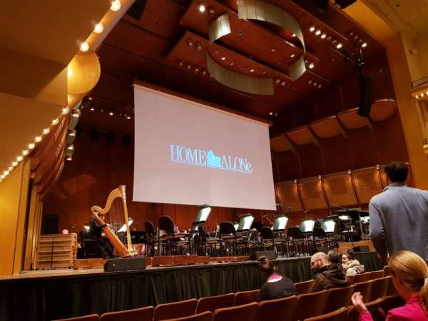David Geffen Hall, section: Orchestra 4 Front left, row: J, seat: Seat 25