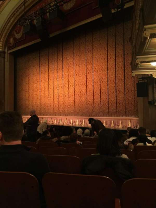 Booth Theatre, section: Orchestra, row: K, seat: 10