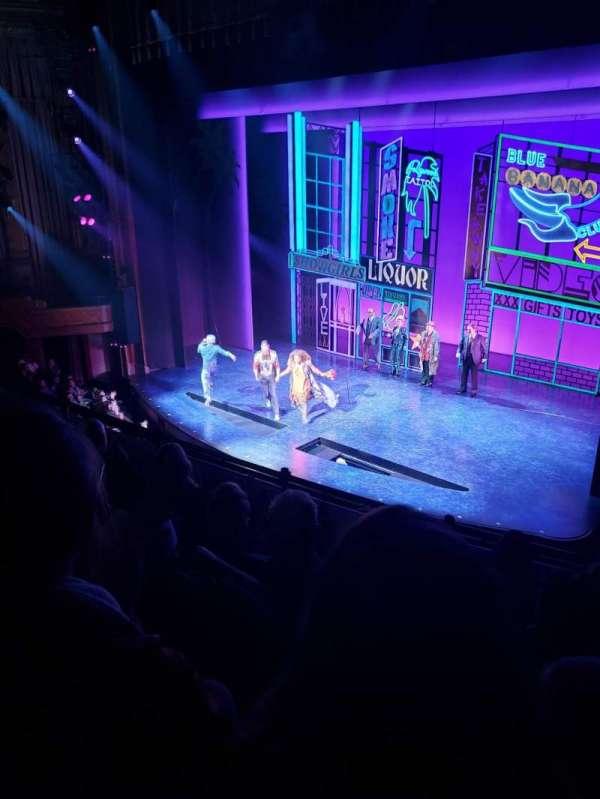 Nederlander Theatre, section: Mezzanine, row: E, seat: 18