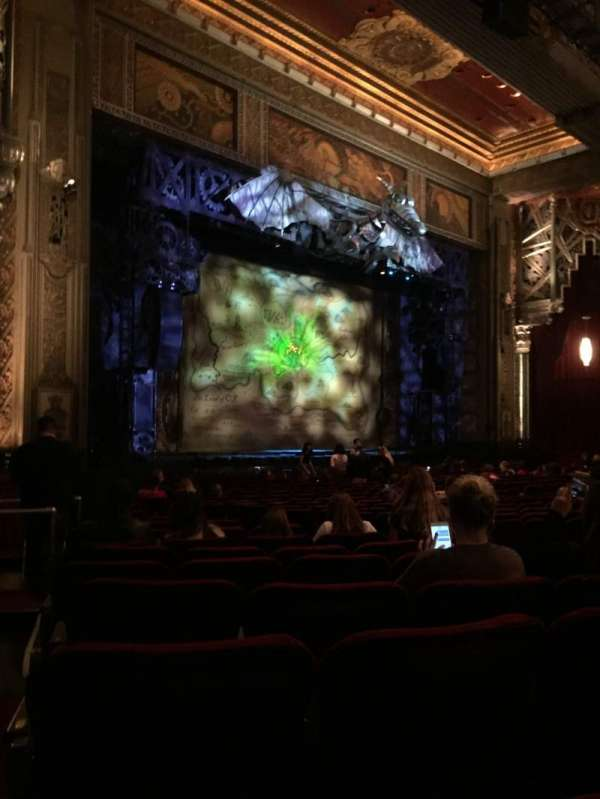 Hollywood Pantages Theatre, section: Orchestra L, row: W, seat: 17