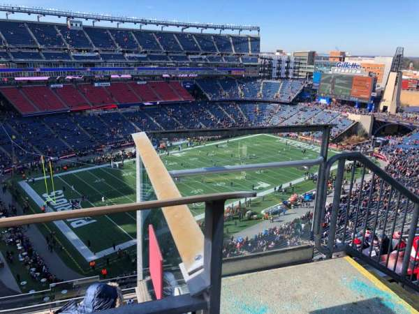 Gillette Stadium, section: 316, row: 8, seat: 1
