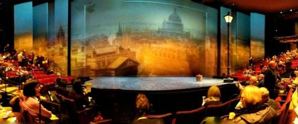 Vivian Beaumont Theater, section: Orchestra, row: D, seat: 301