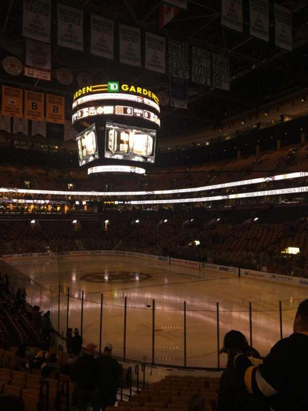 TD Garden, section: Loge 8, row: 17, seat: 17
