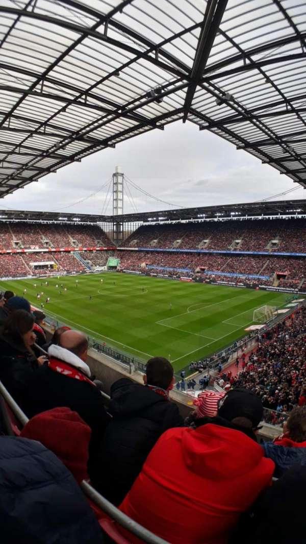 RheinEnergieStadion, section: W11, row: 3, seat: 7