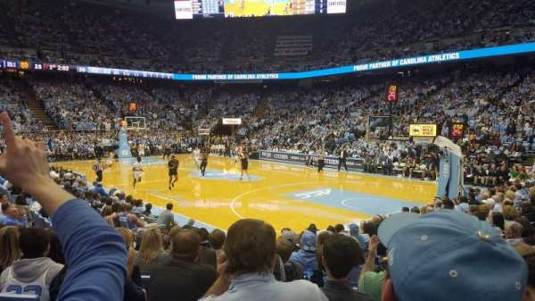 Dean E. Smith Center, section: 130, row: K, seat: 9