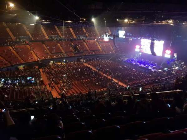 The Forum, section: 206, row: 15, seat: 8