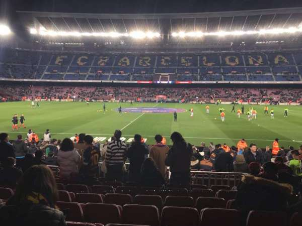 Camp Nou, section: 134, row: 12, seat: 11