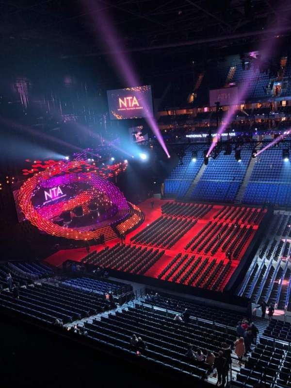 The O2 Arena, section: 404, row: A, seat: 533