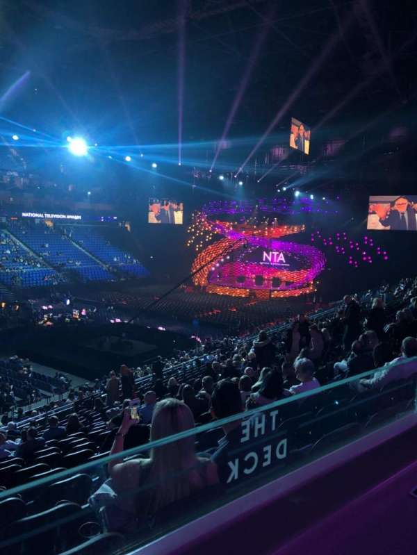 The O2 Arena, section: Amazon Deck, row: ZZ, seat: 106