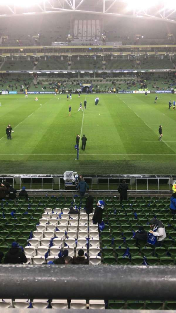 Aviva Stadium, section: 305, row: A, seat: 26