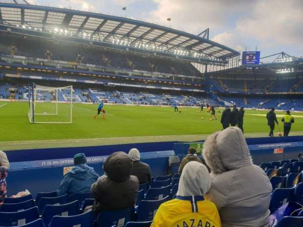 Stamford Bridge, section: East lower, row: J, seat: 17