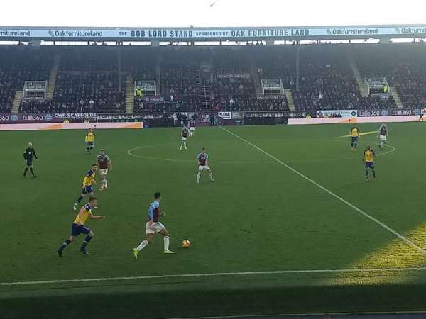 Turf Moor, section: James Hargreaves lower, row: S, seat: 120