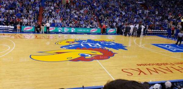 Allen Fieldhouse, section: G, row: 6, seat: 17