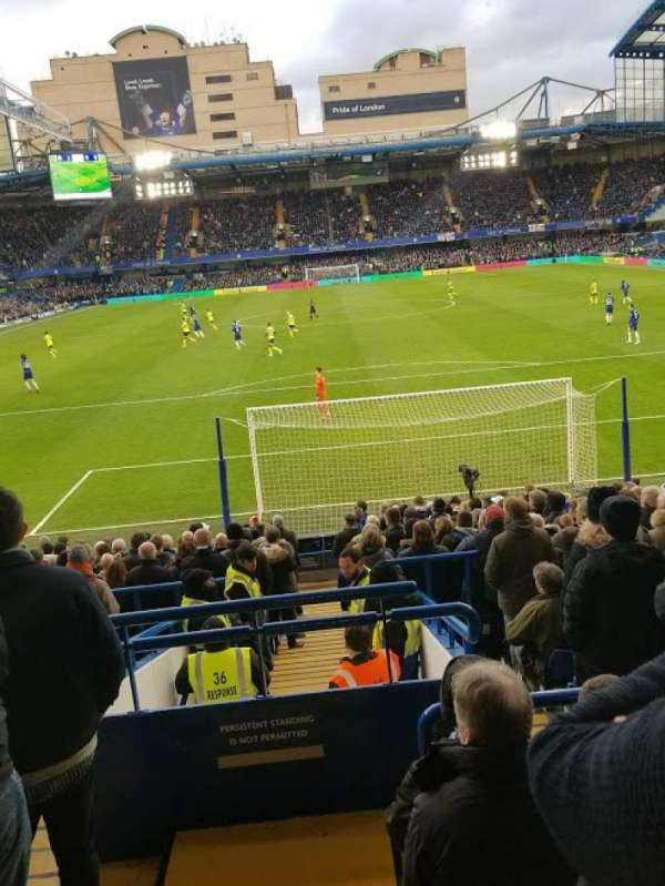 Stamford Bridge, section: Matthew Harding Lower 12, row: X, seat: 84