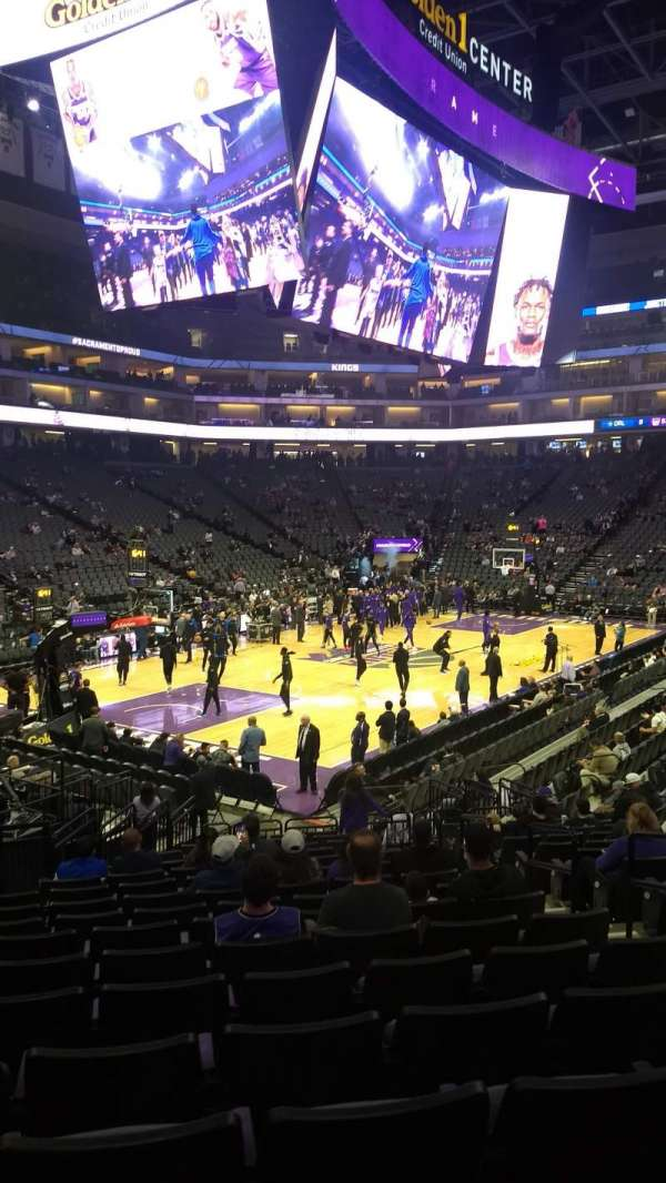 Golden 1 Center, section: 124, row: K, seat: 5