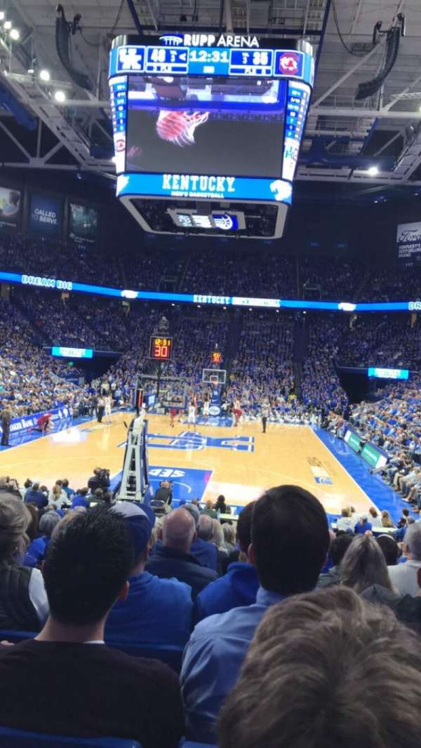 Rupp Arena, section: 22, row: RR, seat: 9