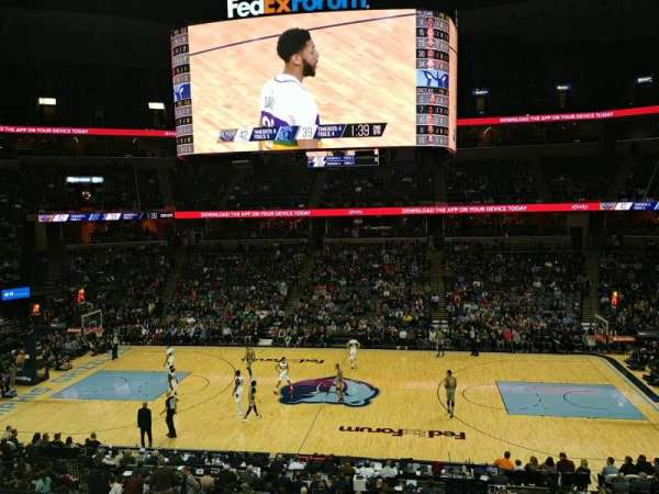 FedEx Forum, section: PINN4, row: A, seat: 2