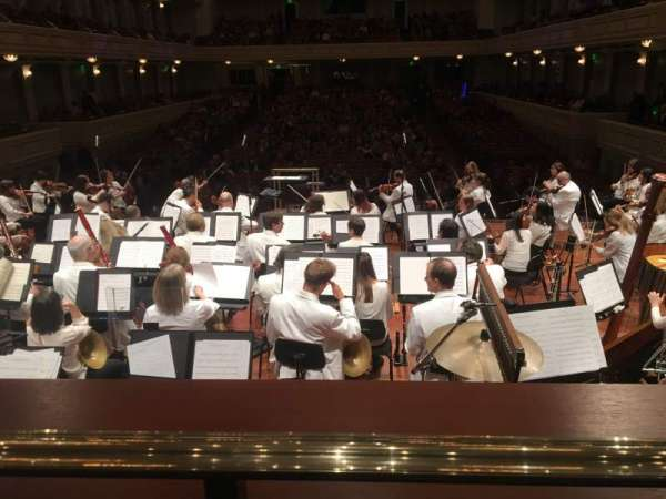 Schermerhorn Symphony Center, section: Orchestra view, row: A, seat: 18