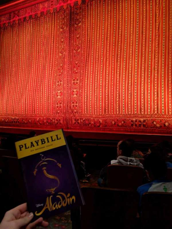 New Amsterdam Theatre, section: Orchestra R, row: G, seat: 4