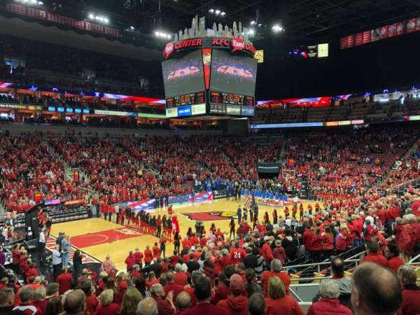 KFC Yum! Center, section: 108, row: U, seat: 15-16