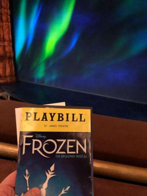 St. James Theatre, section: Mezz, row: A, seat: 101