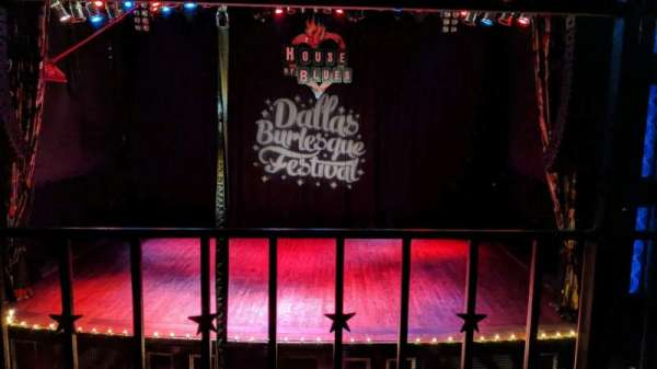 House Of Blues - Dallas, section: balcony c, row: A, seat: 208