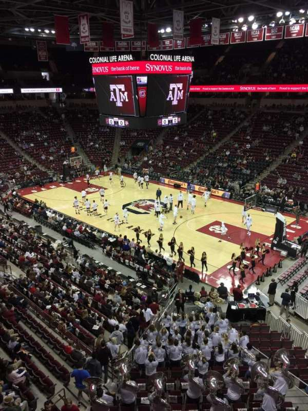 Colonial Life Arena, section: 219, row: 1, seat: 4