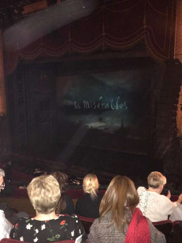 Palace Theatre (Manchester), section: Circle, row: D, seat: 9