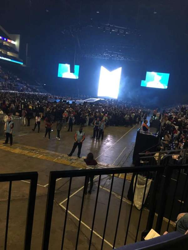 The O2 Arena, section: 108, row: J, seat: 250