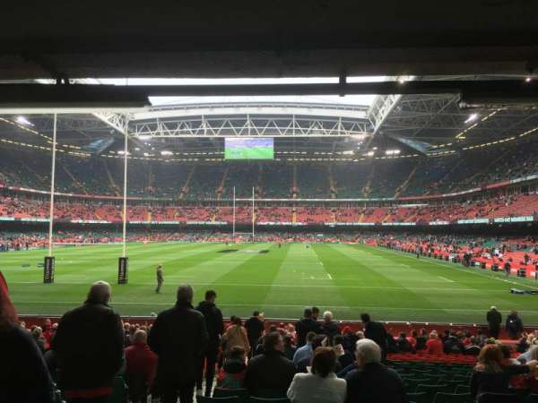 Principality Stadium, section: L39, row: 23, seat: 2