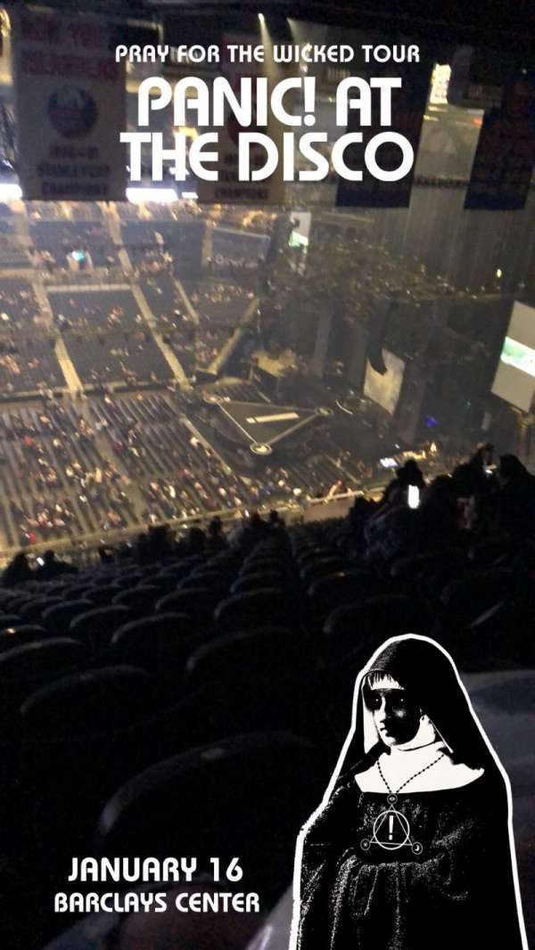 Barclays Center, section: 221, row: 21, seat: 20
