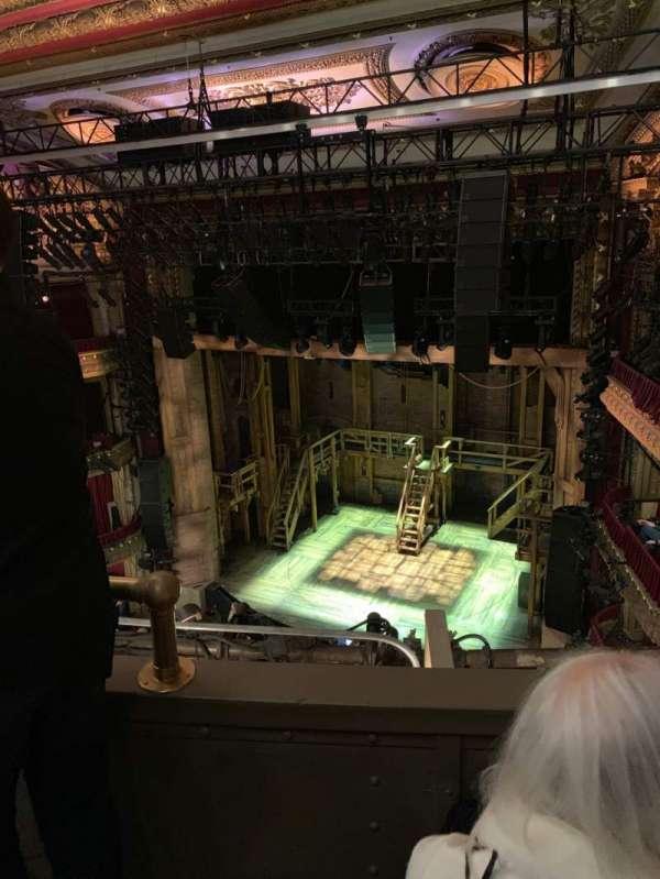 CIBC Theatre, section: Balcony R, row: B, seat: 4