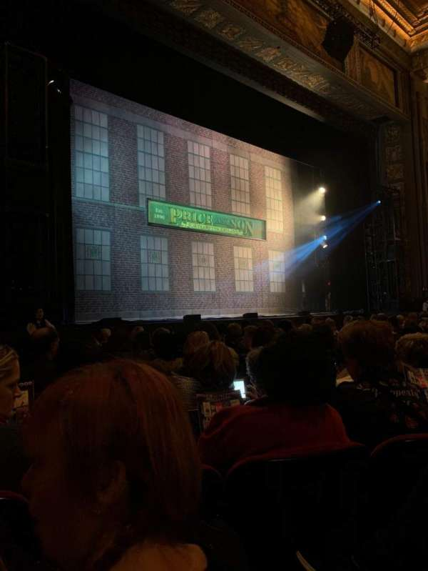 Hollywood Pantages Theatre, section: Orchestra L, row: K, seat: 314