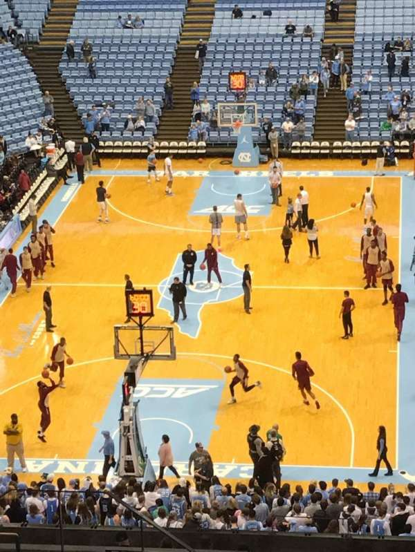 Dean E. Smith Center, section: 218, row: V, seat: 8